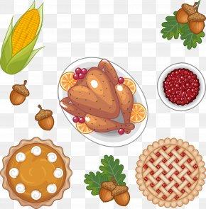 Thanksgiving Roast Chicken With Corn - Roast Chicken Thanksgiving Dinner Chicken Meat Roasting PNG