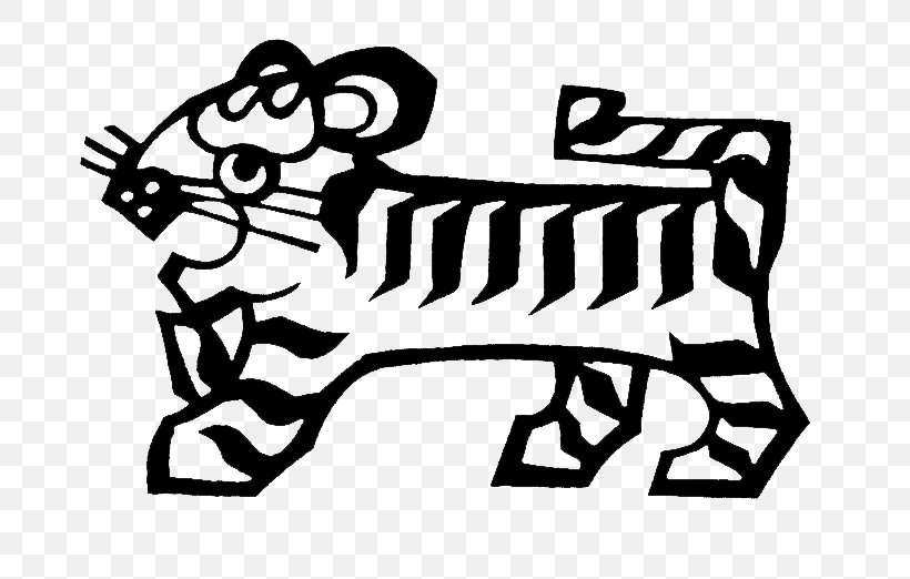 Tiger Chinese Zodiac Monkey, PNG, 756x522px, Tiger, Area, Art, Black, Black And White Download Free