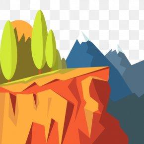 Vector Cliff Scenery - Euclidean Vector Landscape Download Illustration PNG