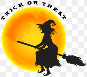 Halloween Witch And Moon Clip Art Image - Witchcraft Halloween Witch-hunt PNG