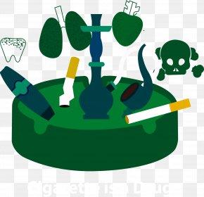 Horror Cigarette Vector - Smoking Illustration PNG