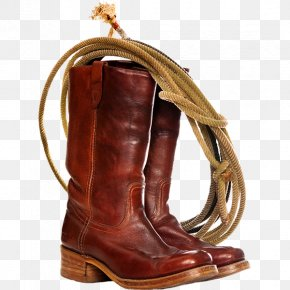 Creative Retro Shoes - Cowboy Boot Lasso Stock Photography PNG