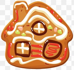 Christmas Cookie House Clipart Image - Christmas Cookie Gingerbread Clip Art PNG