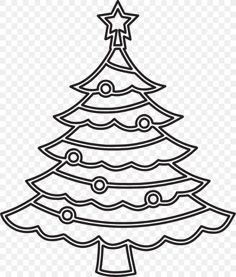 - Christmas Tree Clip Art Template Christmas Day Coloring Book, PNG