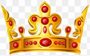 Gold Red Crown Transparent Clip Art Image - Crown Clip Art PNG