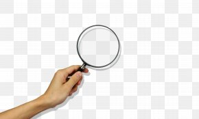 Hand Holding A Magnifying Glass - Magnifying Glass Hand Human Body PNG