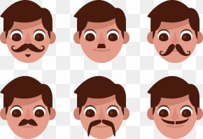 Vector Different Bearded Human Head - Homo Sapiens Euclidean Vector PNG
