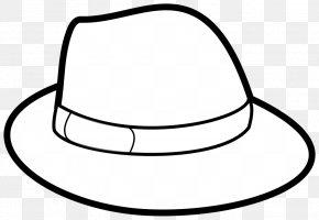 Brief Cliparts - Top Hat Outline Cowboy Hat Clip Art PNG