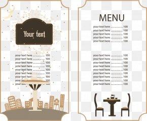 Continental Restaurant Menus - Cafe Menu Brunch Restaurant Food PNG