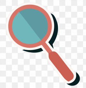 Vector Red Magnifying Glass Material - Magnifying Glass Red Euclidean Vector PNG