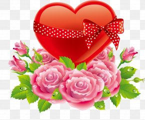 Rose Heart - Heart Rose Valentines Day Love PNG