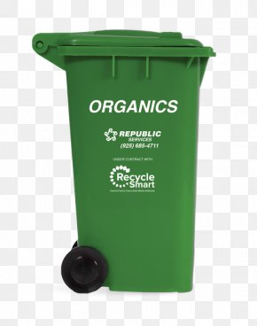 Food Trash - Rubbish Bins & Waste Paper Baskets Plastic Recycling Landfill Green Bin PNG
