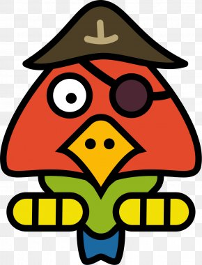 Pirate Parrot - Pirate Parrot Drawing Clip Art PNG