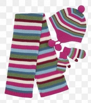 Striped Dress - Scarf Hat Glove Clip Art PNG