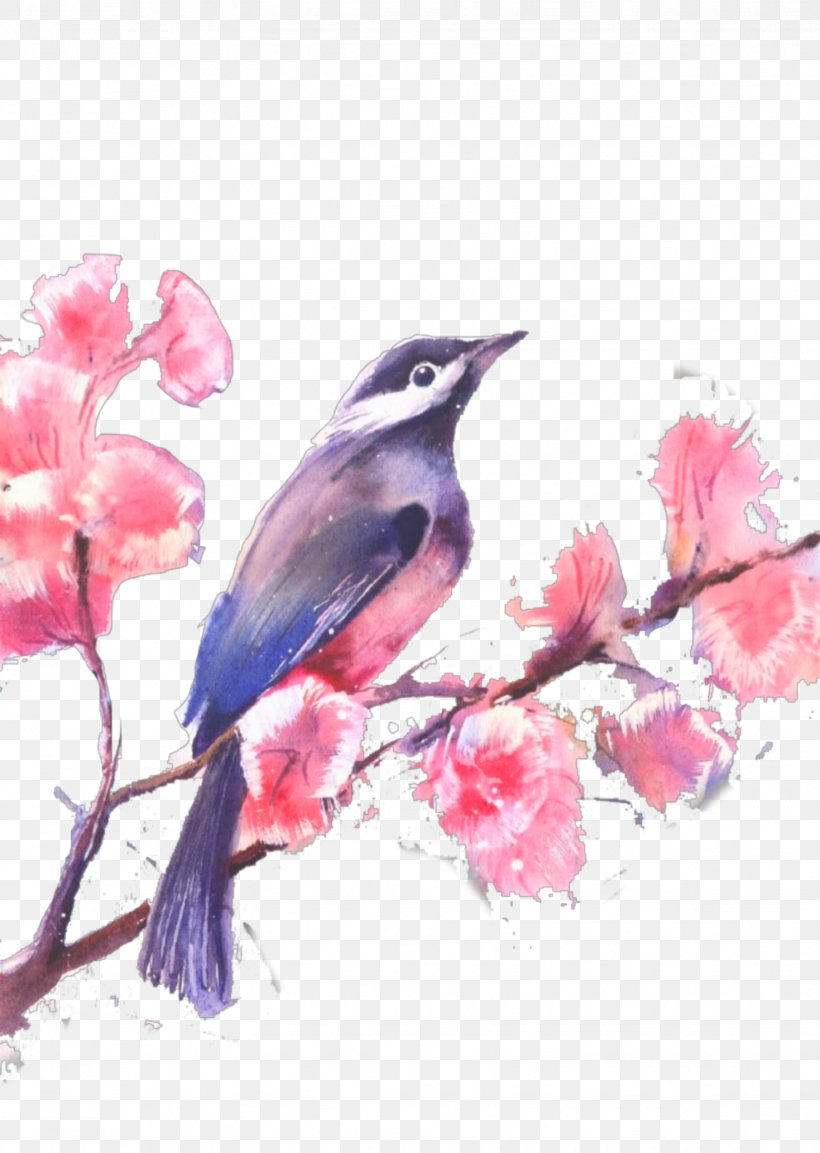 Watercolor Painting Stock Illustration Drawing, PNG, 1627x2289px, Watercolor Painting, Art, Beak, Bird, Blossom Download Free