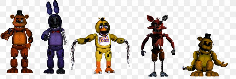 Five Nights At Freddy S 2 Animatronics Jump Scare Action Toy Figures Png 1542x517px Five Nights