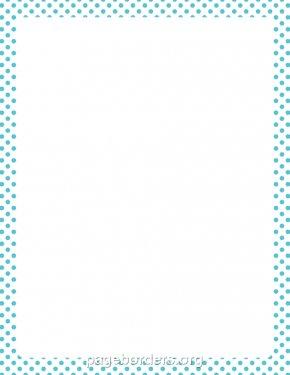 Dot Border Cliparts - Paper Turquoise Border Clip Art PNG