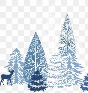 Creative Winter Snow Blue - Winter Snowflake Clip Art PNG