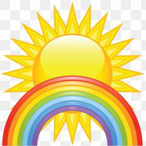 Sun Rainbow Icon Material Free To Pull - Spring Free Content Clip Art PNG