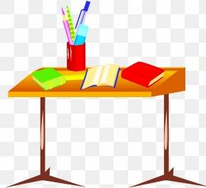Cartoon Crayons - Student Desk School Classroom Clip Art PNG
