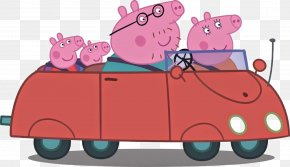 Pig - Daddy Pig Car Mummy Pig George Pig PNG