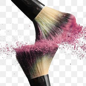 Makeup Brush Blush Pink Splash Collision - Cosmetics Makeup Brush PNG
