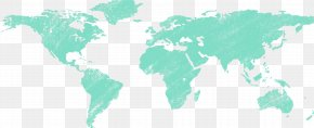 World Map - World Map Wall Decal Map Projection PNG