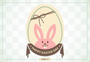 Vector Easter Bunny Card - Easter Bunny Easter Egg Rabbit PNG