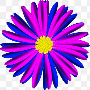 Blue Flower - Blue Flower Pink Clip Art PNG