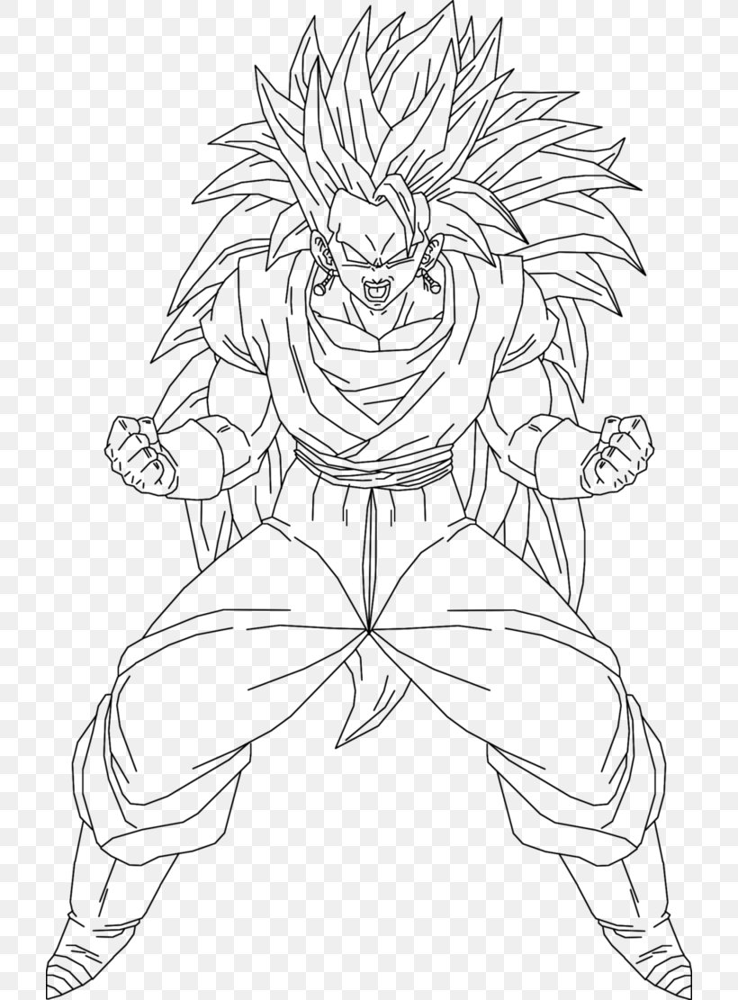 Goku Line Art Drawing Super Saiyan Vegerot Png 718x1111px