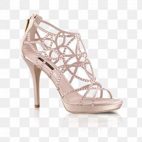 Satin Sandal Clipart - Shoe Louis Vuitton High-heeled Footwear Sandal Bride PNG