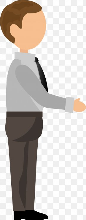 Business Staff Design Vector - Shoulder Headgear Cartoon Human Behavior Illustration PNG
