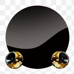 Black Circle Decorative Sense Of Technology - Circle Poster PNG