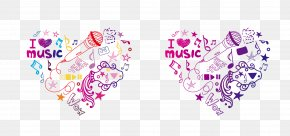 Heart-shaped Collage Of Original Elements - Collage Heart Symbol Illustration PNG