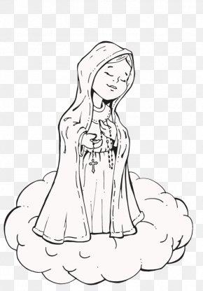 Nossa Senhora De Fatima - Drawing Line Art O Pequeno Julian Comics PNG