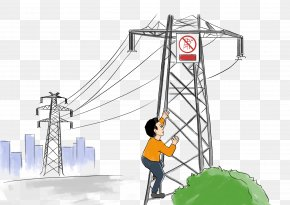 Prohibit Climbing High Voltage - Electricity High Voltage PNG