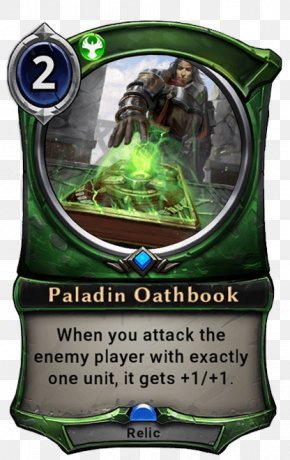 Paladin Calling Card - Eternal Hearthstone Card Game Playing Card PNG