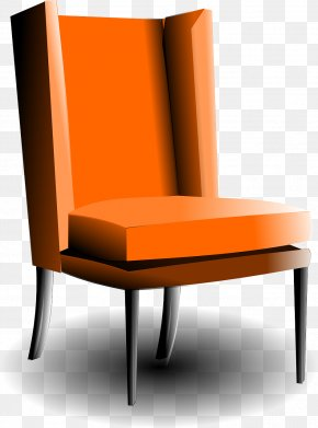 Orange Armchair - Interior Design Services Clip Art PNG