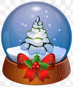 Santa Claus - Santa Claus Snow Globes Christmas Clip Art PNG