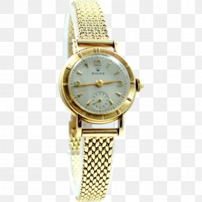 Rolex - 1950s Watch Strap Rolex Gold PNG
