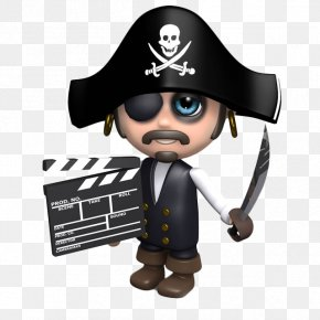 The Pirate Captain Took The Log Card Cartoon - Piracy Clapperboard Royalty-free Photography PNG