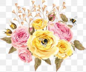 Flower - Garden Roses Floral Design Paper Flower Bouquet Centifolia Roses PNG