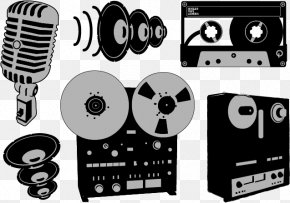 Vector Megaphone - Microphone Reel-to-reel Audio Tape Recording Compact Cassette Audio Equipment PNG