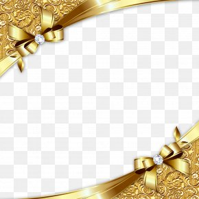 Gold Diagonal Border - Gold PNG