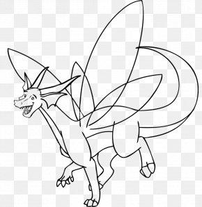 Dragon Line Art - Line Art Coloring Book Cartoon Dragon Character PNG