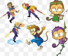 Monkey Cartoon Vector - Sun Wukong Mount Huaguo Monkey Clip Art PNG