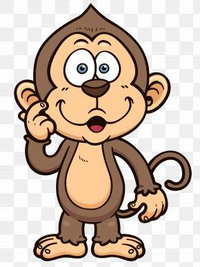 Monkey Cartoon Clipart Image - T-shirt Monkey Drawing Cartoon Clip Art PNG