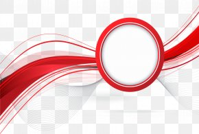 Red Abstract Report Cover Page - Red Line Abstraction PNG