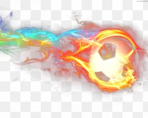Neon Fire Soccer Ball Wallpaper - Neon Lighting Neon Lighting Fire Wallpaper PNG