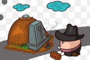 Cartoon Grave - Qingming Sembahyang Kubur Cartoon Wallpaper PNG
